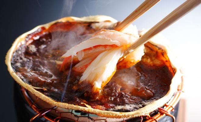 カニ甲羅焼き